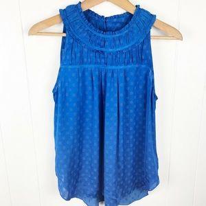Anthropologie Maeve royal blue sleeveless top - O